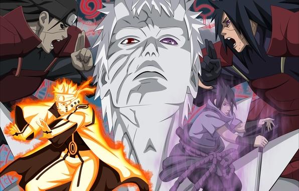 Картинка Наруто, Naruto, Akatsuki, Uzumaki Naruto, Tobi, Obito, Madara Uchiha, Мадара, Клан учиха, Клан учиха.Obito, Учиха …