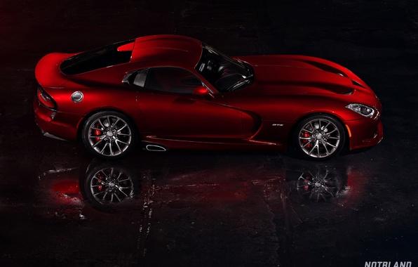 Картинка машина, авто, отражение, Dodge, Viper, auto, бок, GTS, SRT, notbland, Webb Bland, Media Kit