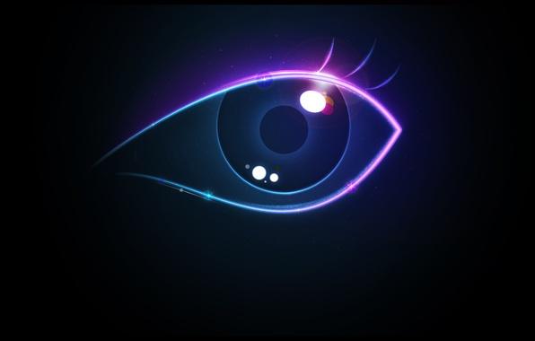 Картинка цвета, глаз, блики