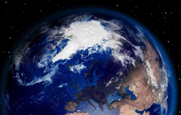 Картинка космос, земля, красиво