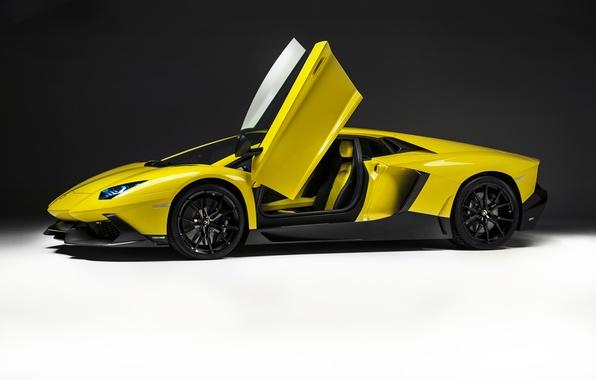 Картинка фон, Lamborghini, двери, автомобиль, LP700-4, Aventador, 50 Anniversario Edition