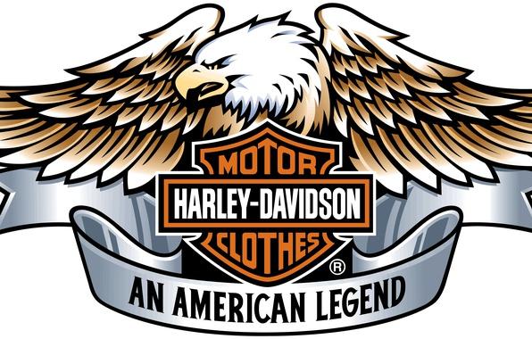 Картинка Harley Davidson, logo, eagle, engine