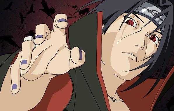 Картинка взгляд, кольцо, Наруто, Naruto, шаринган, ring, sharingan, Учиха Итачи, Uchiha Itachi