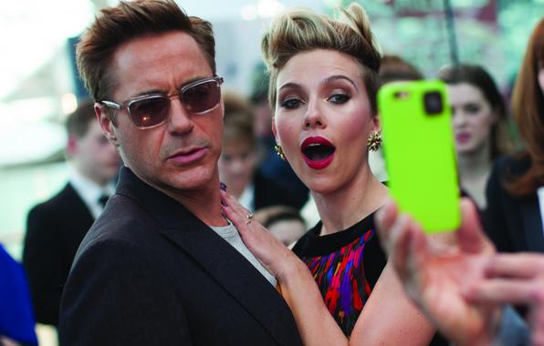 Картинка знаменитости, фотосъемка, кадр, Scarlett Johansson, Скарлетт Йоханссон, актеры, Marvel, London, Robert Downey Jr., Роберт Дауни …