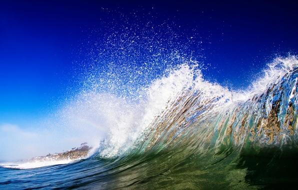 Картинка море, брызги, природа, океан, волна