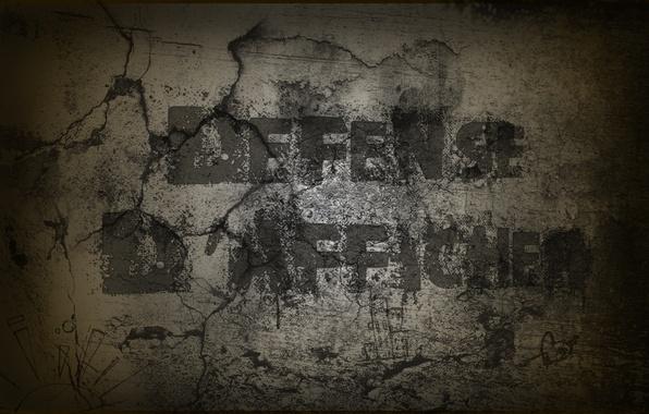 Картинка буквы, креатив, стена, wall, слова, defense creative