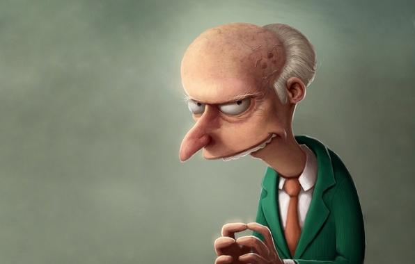 Картинка портрет, Бернс, Симпсоны
