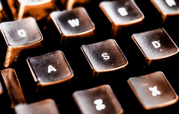 Картинка ретро, клавиши, кнопки, клавиатура, старая
