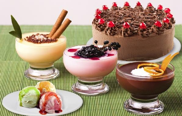 Картинка еда, мороженое, сладости, торт, крем, десерт, шоколадный, глазурь, dessert
