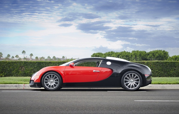 Картинка Bugatti, Grand, Veyron, red, black, Sport