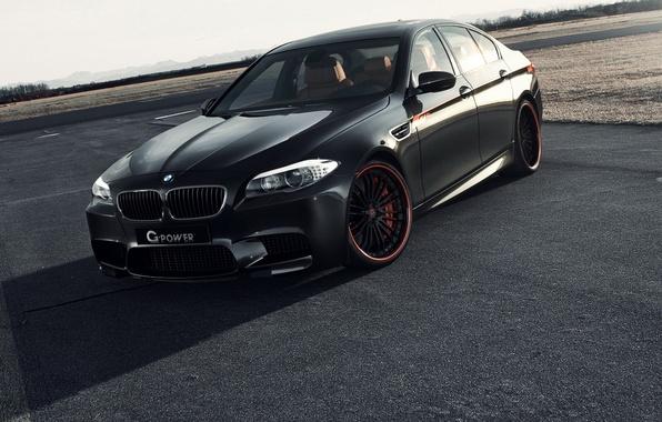 Картинка черный, тюнинг, bmw, бмв, автомобиль, black, tuning, f10, g-power, ф10