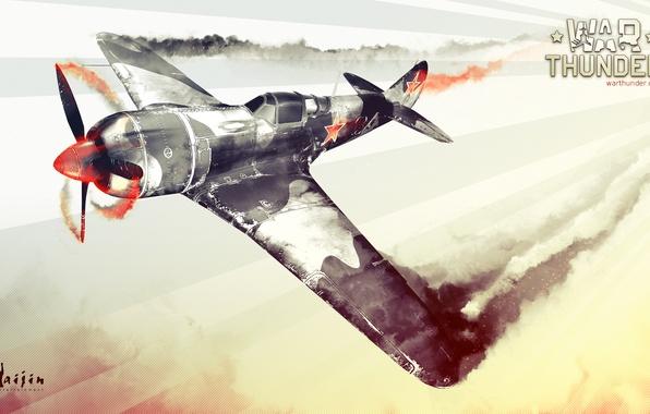 Картинка War Thunder, авиасимулятор, видеоигры, Лавочкин