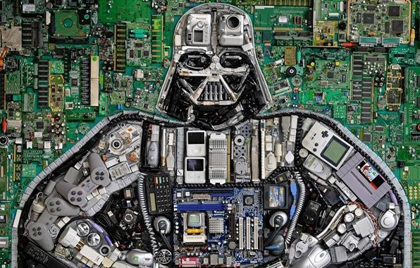 Картинка Star Wars, кнопки, Darth Vader, детали, Звездные Войны, Дарт Вейдер, микросхемы, джойстики