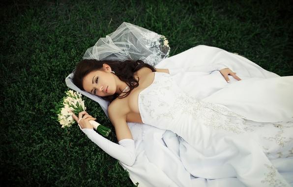 Картинка букет, платье, невеста, свадьба