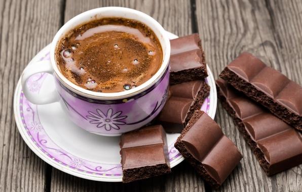 Фото обои cup, чашка, шоколад, кофе, chocolate, beans, coffee