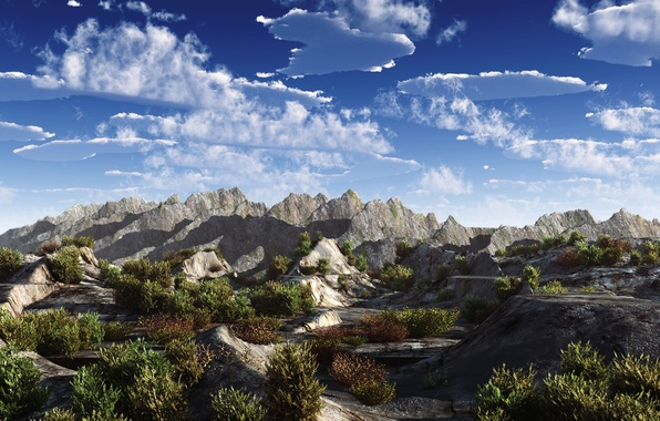 Картинка небо, горы, природа, обоя