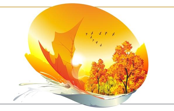 Картинки для телефона золотая осень листья клена