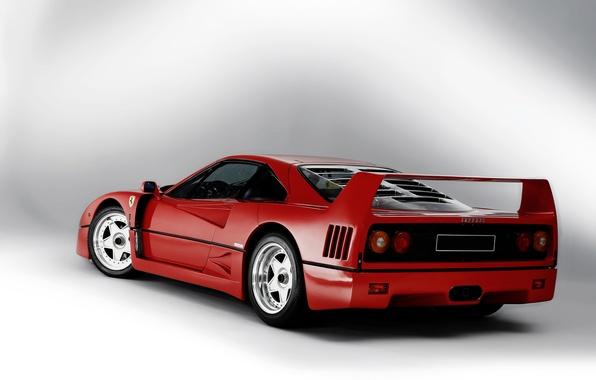 Картинка фон, Ferrari, суперкар, F40, феррари, 1989
