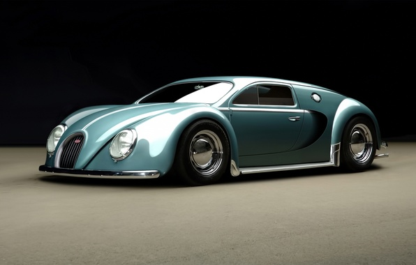 Картинка Bugatti, Veyron, 1945, by_rc82_workchop