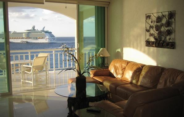 Картинка дизайн, дом, стиль, вилла, интерьер, гостиная, жилая комната