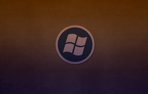 Картинка круг, лого, windows, logo, темноватый фон