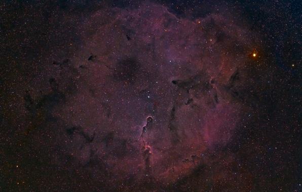 Картинка космос, звёзды, Туманность, Nebula, Elephant's Trunk