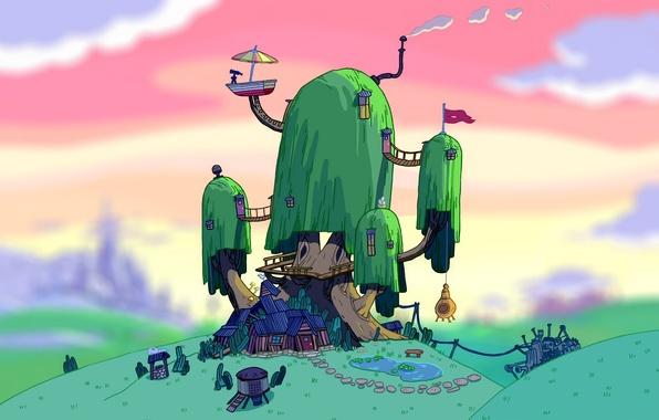 Обои арт, Art, Jake, время приключений, Adventure Time