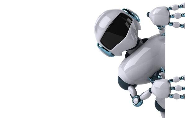 Картинка робот, белый фон