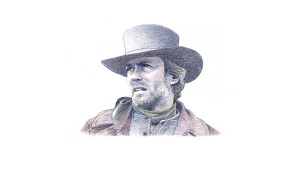 Картинка взгляд, лицо, Clint Eastwood, Клинт Иствуд