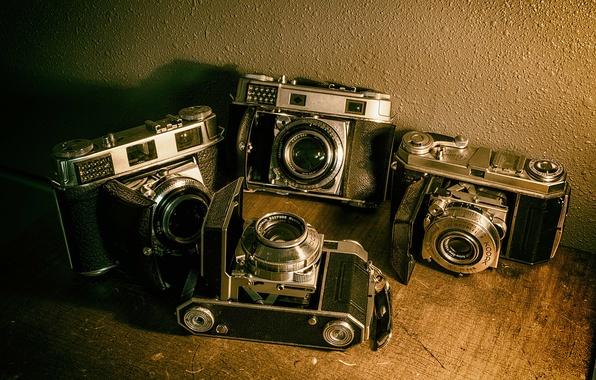 Картинка vintage, cameras, old