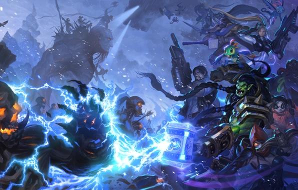 Starcraft diablo warcraft arthas demon hunter - Heroes of the storm phone wallpaper ...
