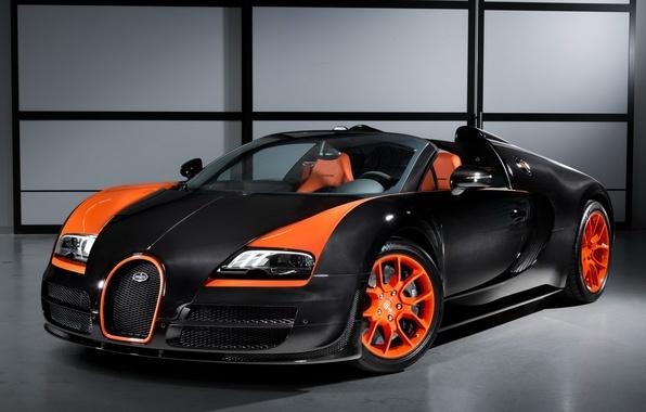 Картинка Roadster, Bugatti, Veyron, supercar, передок, walls, Grand Sport, Vitesse, WRC Edition