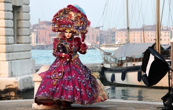 Картинка платье, маска, костюм, карнавал, венеция