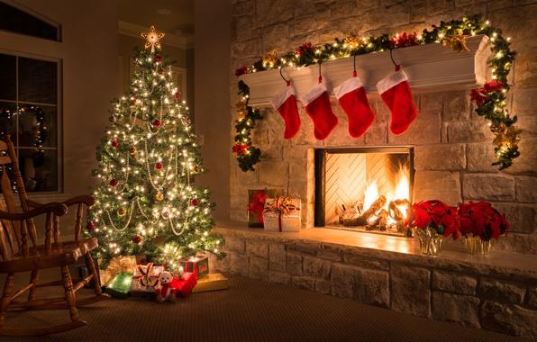 Красивые фон для раб стола рождество