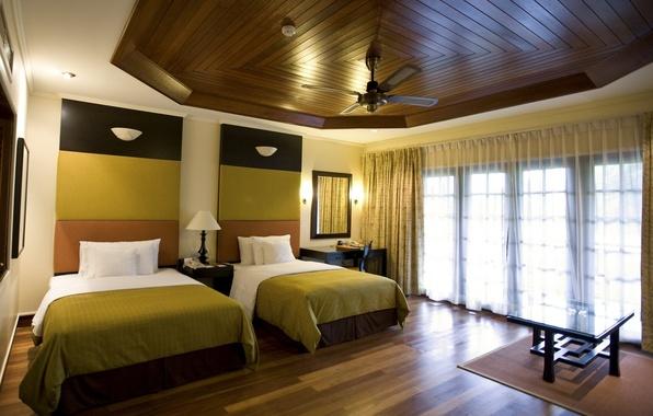 Картинка дизайн, стиль, комната, кровать, интерьер, окно, занавески, квартира, спальня