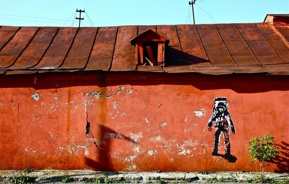 Картинка дом, растение, космонавт, Екатеринбург