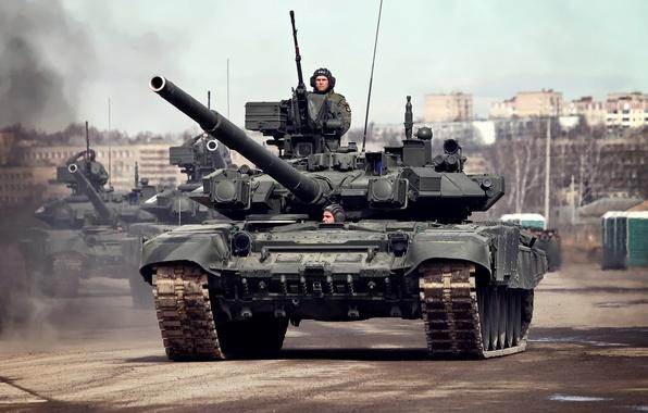 Картинка танк, боевой, 9 мая, Т-90А, Алабино, репетиция, парад победы, Основной