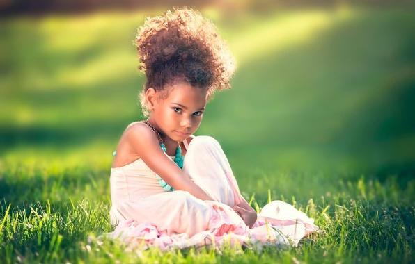 Картинка платье, девочка, кудряшки, причёска