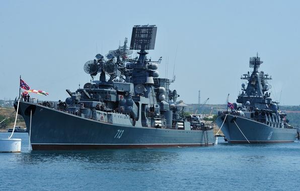 Картинка корабль, корабли, большой, Москва, флот, Россия, крейсер, ракетный, противолодочный, Керчь, гвардейский
