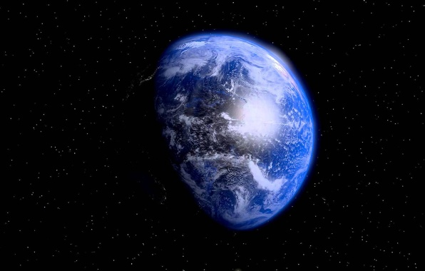 Картинка blue, planet, sci fi