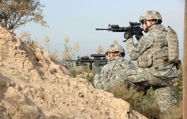 Картинка оружие, us army, армия США, вояки