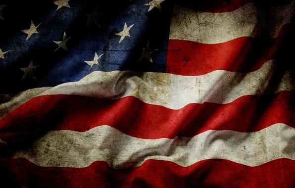 Картинка red, USA, white, blue, stars, flag