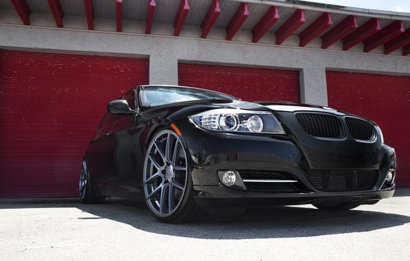 Картинка черный, бмв, BMW, black, E90, 3 серия