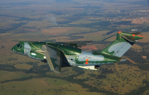 Фото обои FAB, Embraer, KC-390, military aircraft, Força Áerea Brasileira, Brazilian Air Force