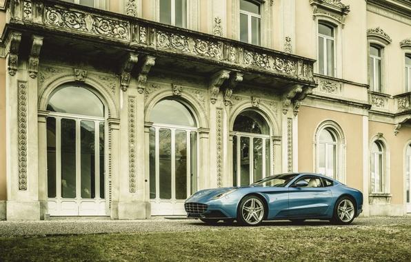 Картинка фото, Голубой, Ferrari, Автомобиль, berlinetta, F12, Touring, 2015, Металлик, Carrozzeria, based on Ferrari, Berlinetta Lussо