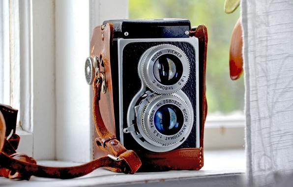 Картинка ретро, камера, фотоаппарат, старый, ricoh