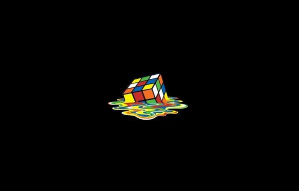 Картинка цвета, кубик Рубика, плавление