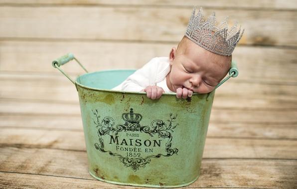 Картинка сон, корона, малыш, ребёнок, младенец, таз, прЫнц
