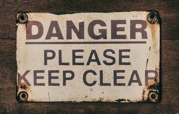 Картинка clear, Danger, please, keep