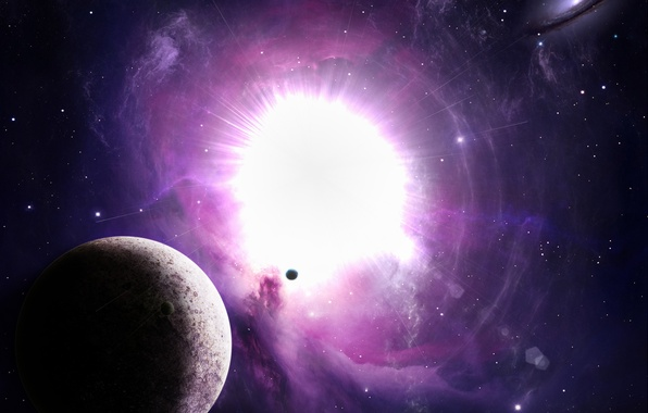Картинка взрыв, звезда, планета, вспышка, light, galaxy